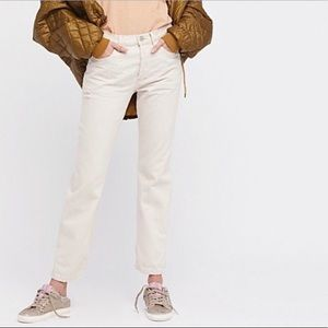 Free People off white high waisted boyfriend jeans